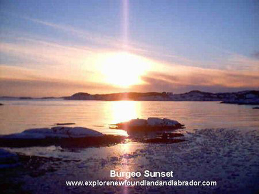 """A Beautiful Sunset On The Harbour At Burgeo, Newfoundland and Labrador"""