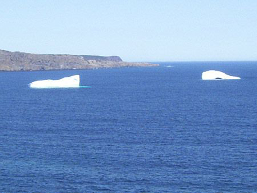 Icebergs near Middle Cove, Newfoundland and Labrador