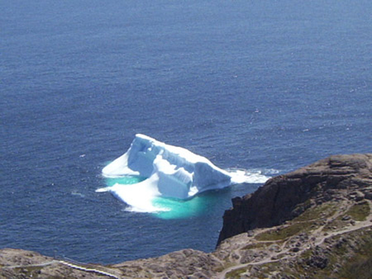 An iceberg near Signal Hill, St. John's, Newfoundland and Labrador