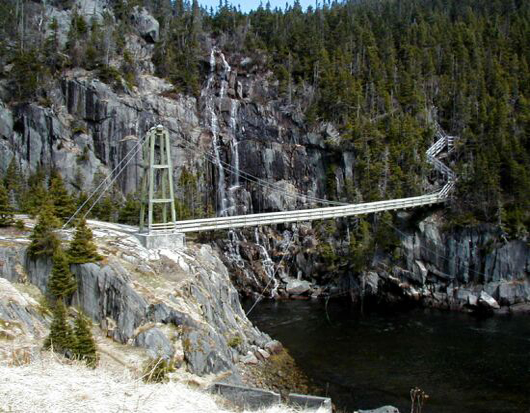 La Manche Suspension Bridge, East Coast Trail, Newfoundland and Labrador