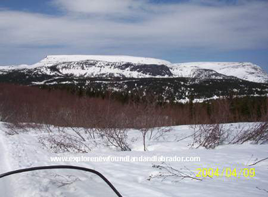 Snowmobiling in the Lewis Hills near Corner Brook, Newfoundland and Labrador
