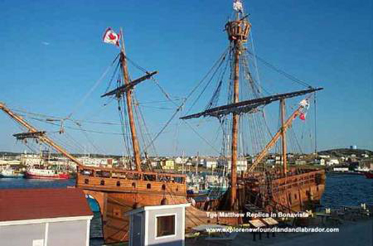 The Matthew Replica in Bonavista Harbour, Newfoundland and Labrador